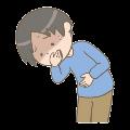 吐き気を催している男性のイラスト